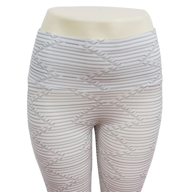 Casual Striped Heart Polyester Pants