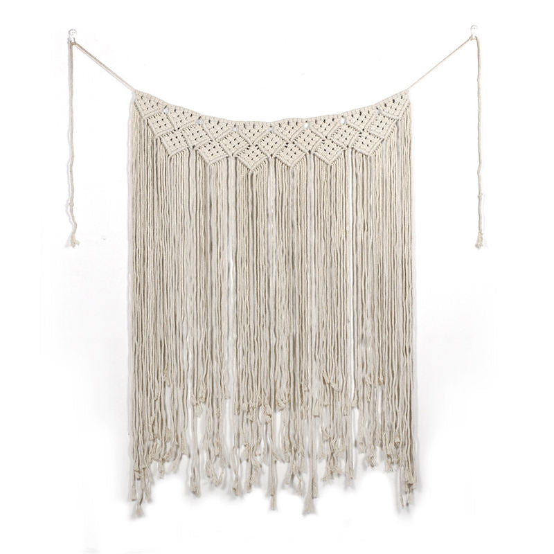 Macrame Boho Wedding Backdrop Curtain Wall