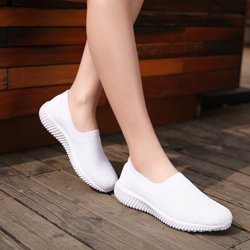 Woman Ballet Slip On Flats Loafers Ladies Shoes Creepers Sneakers