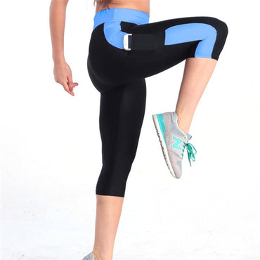Plus size Fitness Side Puffs Elastic Hip Leggings Pants