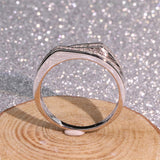 Double Split Crown Micro Round Cubic Zironia Party Ring