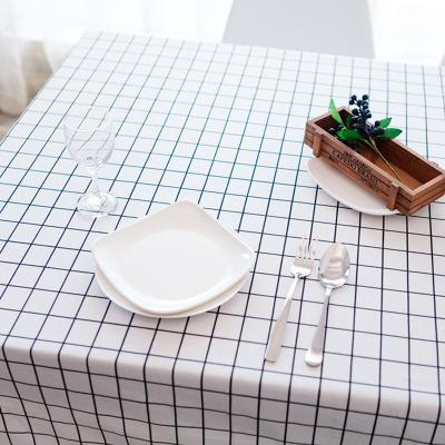Multi- Color Rectangular Linen Rural Square Tablecloths 1