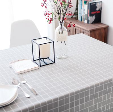 Multi- Color Rectangular Linen Rural Square Tablecloths 2
