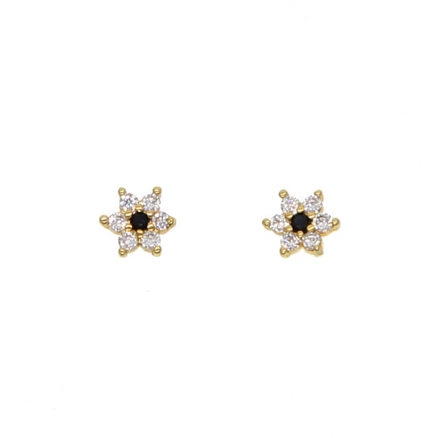 delicate romantic white flower stud tiny earrings