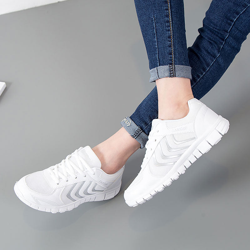 fashion breathable mesh light walking casual woman sneakers