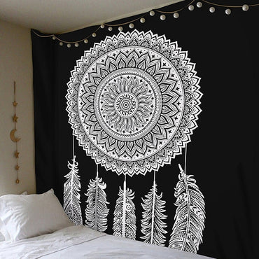 Bohemian Polyester Mandala Indian Tapestry