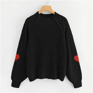 Black Heart Insert Knitted Sweater