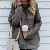 Long Sleeve Warm Knitted Turtleneck Sweater