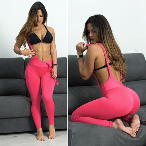 Sexy Overalls Fitness Yoga Pants Sports Leggings