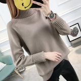 Turtleneck Long Sleeve Tricot Sweater