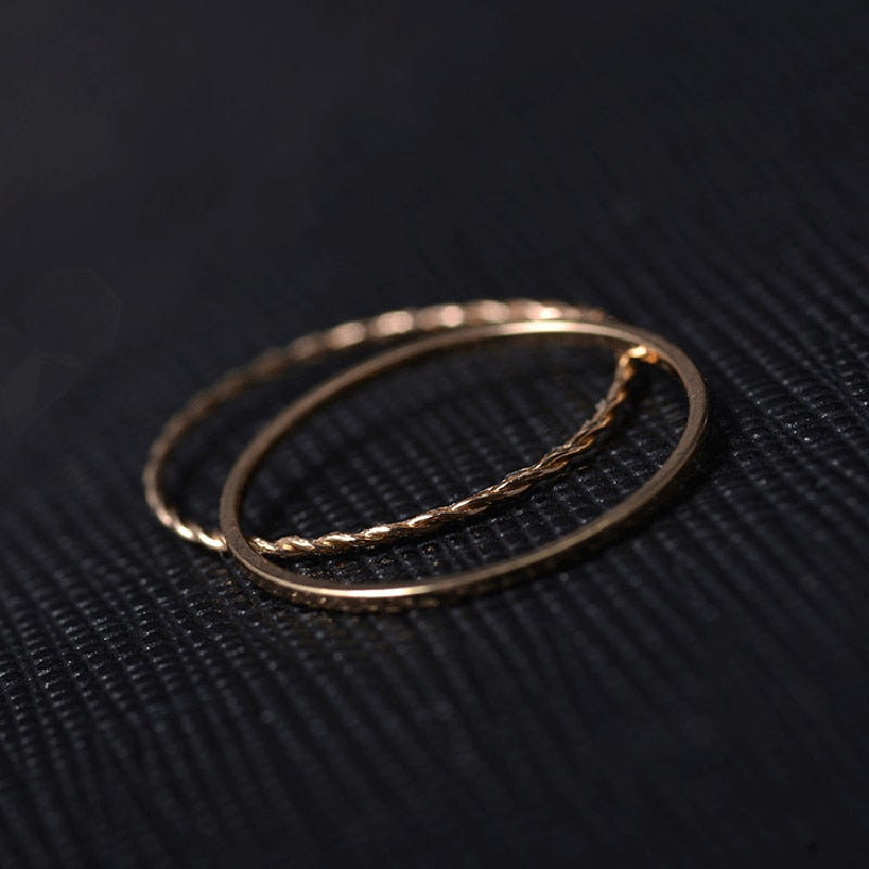 Twist Love Ring Jewelry Gift Stackable Boho Fashion Minimalist Ring