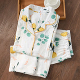 Cotton Gauze Thin Maternity Pajamas Set