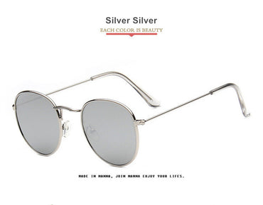 Round Shades Retro Mirror Sunglass