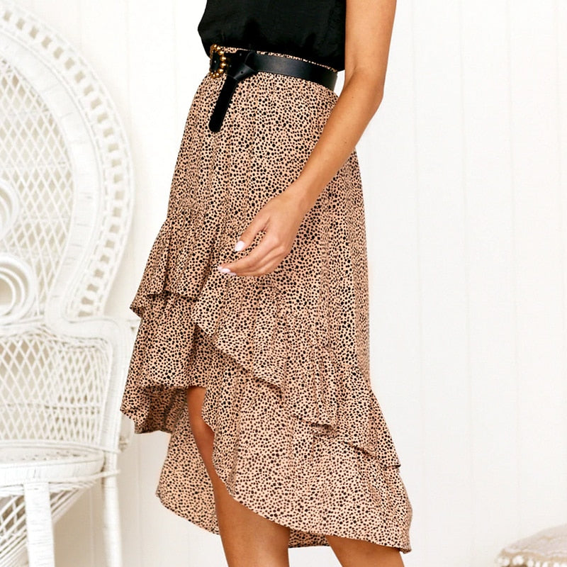 High Waist Skirts Polka Dot Skirts