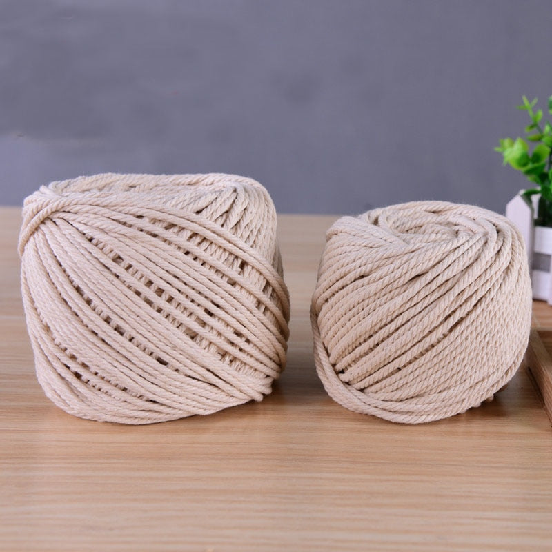 Cotton Twisted Cord Rope DIY Home Textile Craft Macrame String Handmade Decorative Accessories 1/2/3/5/6/8mm