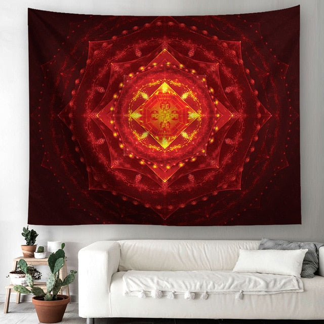 Bohemian  Mandala Tapestry Home Decor Wall Hanging Picnic Throw Rug Blanket  Cotton Throw