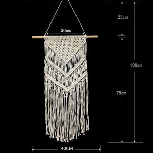 Macrame Woven Wall Hanging Boho Chic Bohemian Home Geometric Art Decor Tapestry