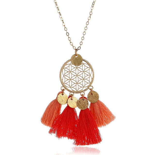 Long Vintage Ethnic Bohemian Necklace