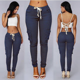 Good Elastic Nice Material Packets Pencil Skinny Pants