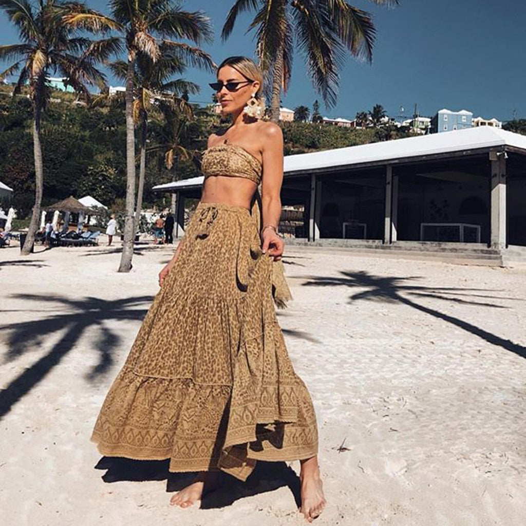Boho chic  Print Wild Thing Maxi Skirt