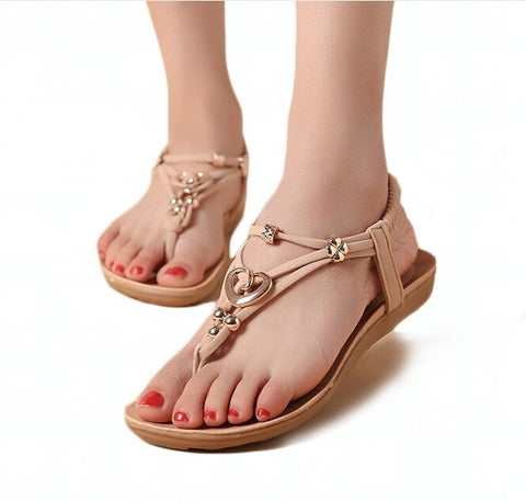 Flat Sandals Bohemia Beach Sandals Fashion  Shoes