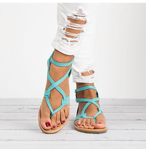 Buckle Strap Flat Sandals