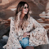 Retro Cream Celestial Blouse Shirt