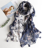 Multi-color Tropical print flamingo scarves