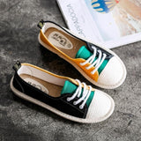 Lace Up Flat Candy Colors Fisherman Lightweight Leisure Shoes