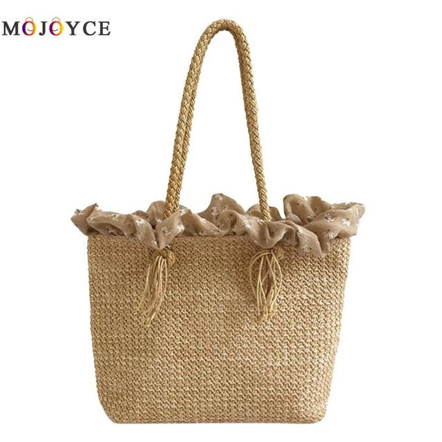 Large Capacity Bohemian Straw Bag