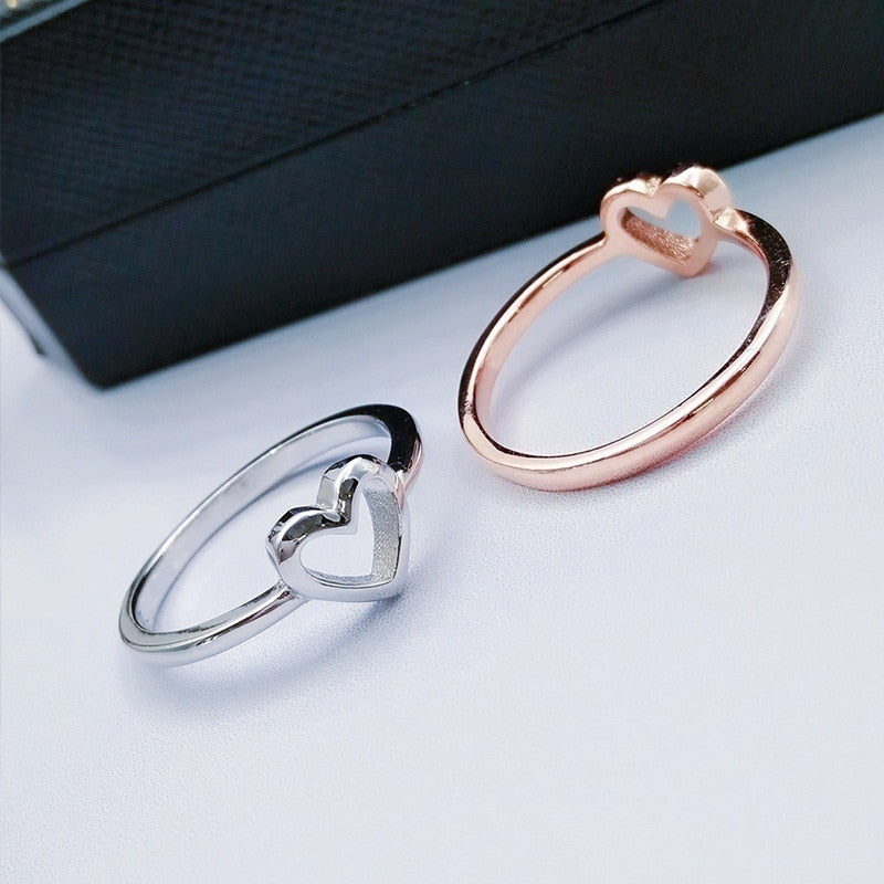 Rose Gold Color Heart Shaped Ring