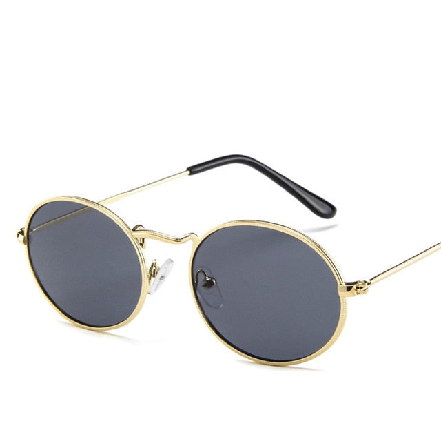 Retro Metal Oval Sunglasses