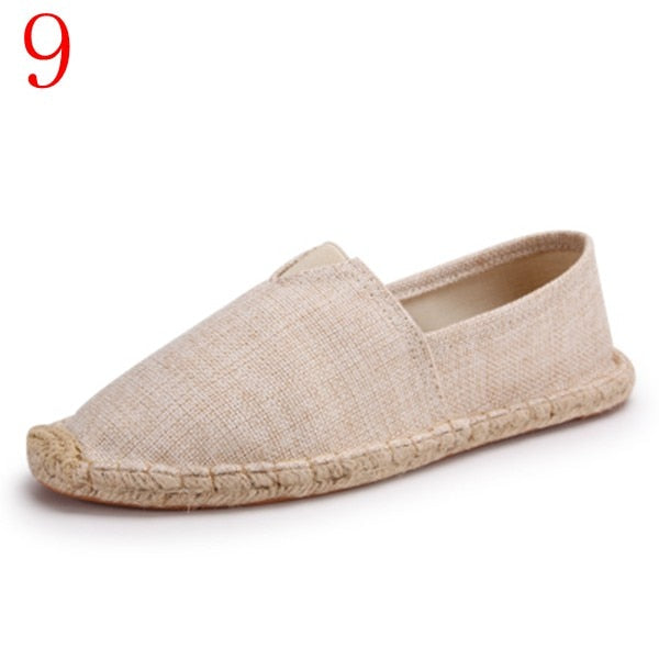 Retro Vintage Ladies Casual Espadrilles canvas Shoes 1