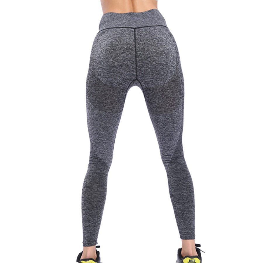 High Waist Gym Sports Tights Elastic Seamless Leggings