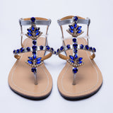 Bohemia diamond sandals  shining rhinestones shoes