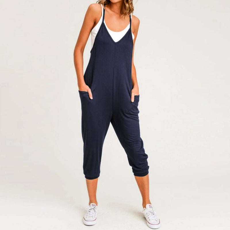 Women Sleeveless Sexy Spaghetti Strap Rompers Jumpsuits