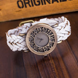 Vintage Quartz Watches Cow Leather Bracelet Watches