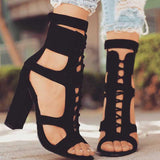 Women Pumps Peep Toe High Heels Sandals
