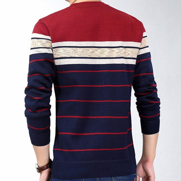 casual clothing fitness striped pullover sweater