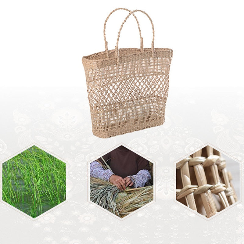Ecology Rattan Straw Handbag