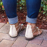 Flip Flops Leather Bandage Flat Shoes Bohemia Slippers Sadals