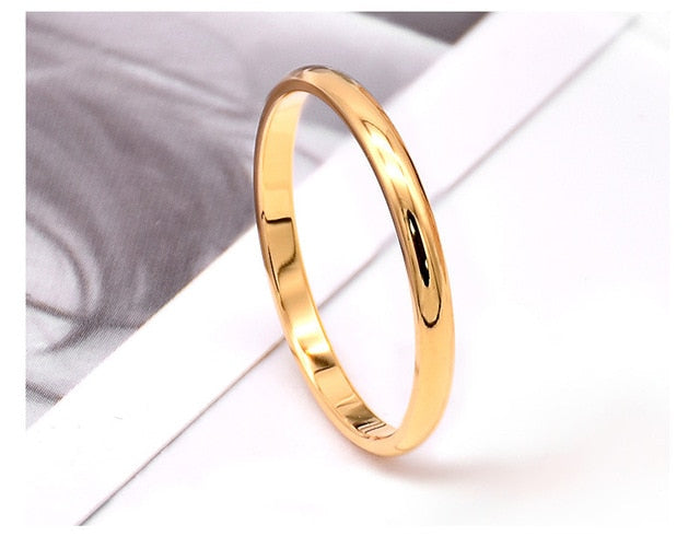 (1 MM) Simple Thin Titanium Steel Ring part b