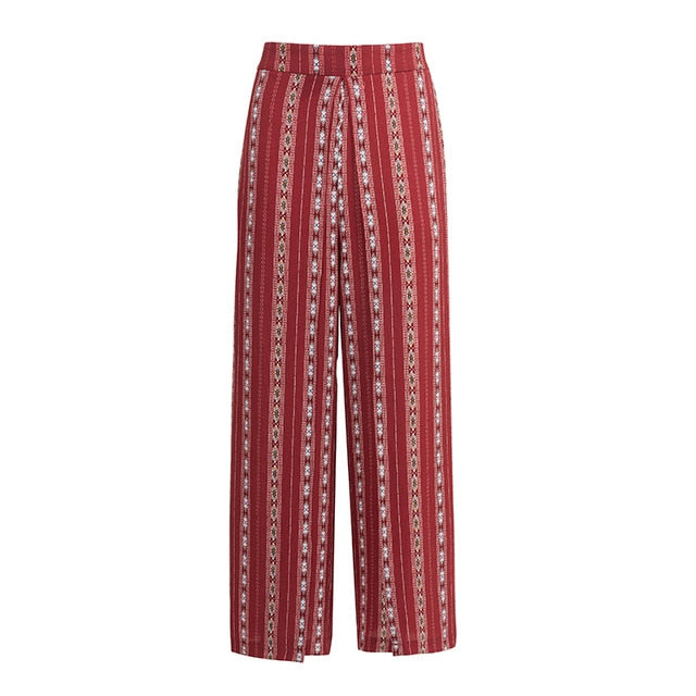 Bohemian Sexy Split Long Pants
