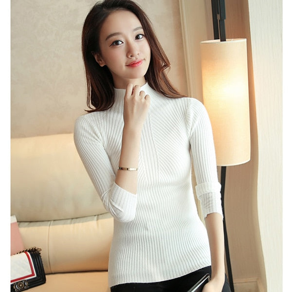 Autumn Winter  Knitted Pullovers Long Sleeve Jumper Sweater