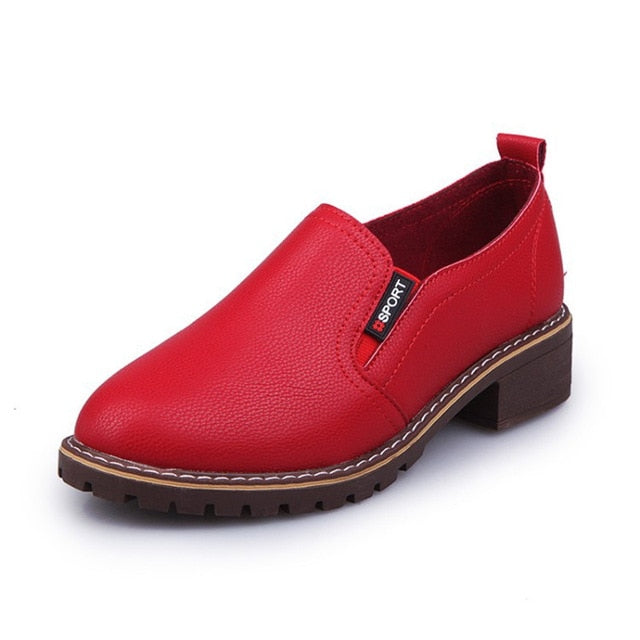 PU Bullock Round Toe Oxford Boots Shoes