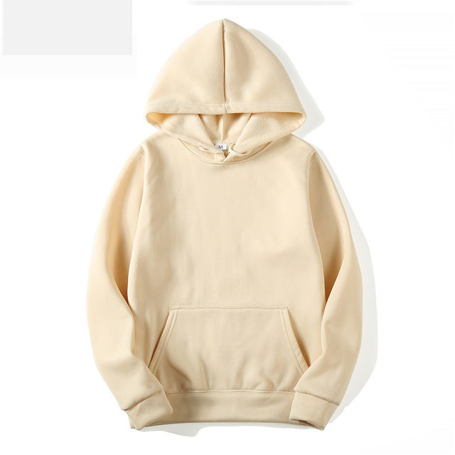 Fashion Solid Color Men Hoodies