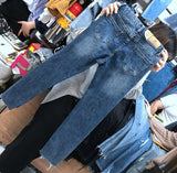 High Waist Denim Ankle Length Harem Boyfriend Jeans