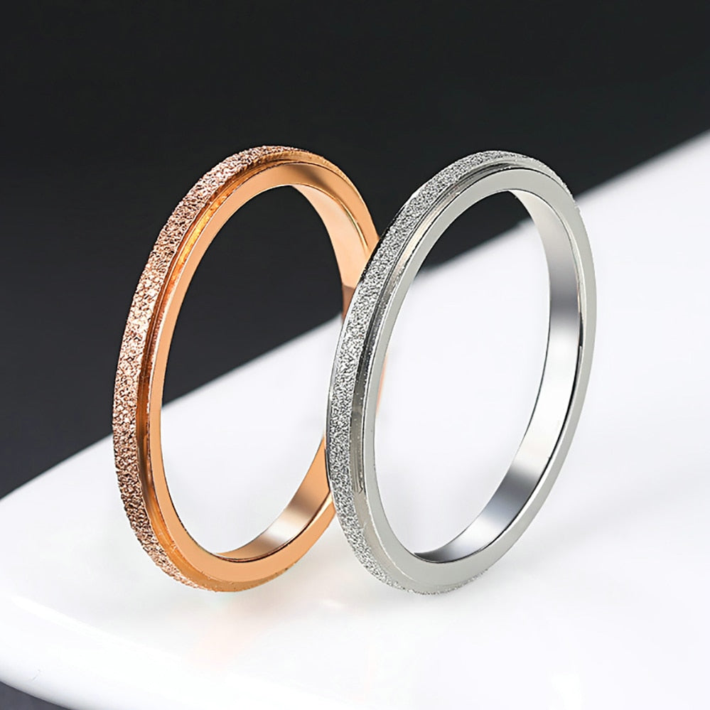 Simple Style Titanium Steel Love Token Ring