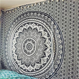Hippie Night Sky Moon Tapestry Mandala Wall Carpet