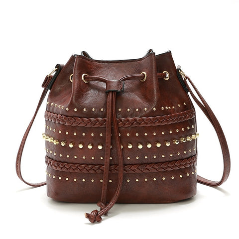 Vintage Rivet Bucket Bag